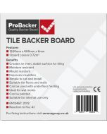 Image for Verona ProBacker Cement Backerboard - 1200x600x6mm
