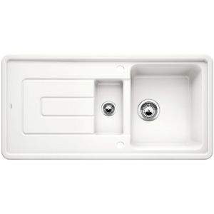 Image for Blanco TOLON 6 S Ceramic Kitchen Sink Crystal White Glossy  BL467808