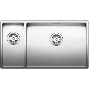 Image for BLANCO CLARON 550/200-U Stainless Steel Kitchen Sink & Tap Pack Left Hand Main Bowl