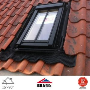 Image for VELUX GPL MK08 SD5W2 White Polyurethane (PUR) Top Hung Conservation Window for 120mm Tiles - 78cm x 140cm
