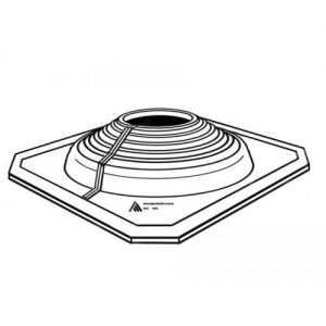 Image for AD Series Pipe Flashing For Metal Roofs 400mm to 750mm - Black