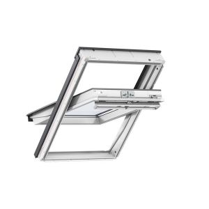 Image for VELUX GGL FK08 2060 66x140cm White Painted Centre Pivot Roof Window Noise Reduction