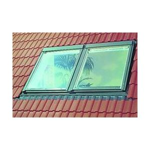 Image for VELUX EBP MK08 0021B Twin Combination Plain Tile Flashing 78x140cm - 18mm Gap