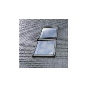 Image for VELUX EKL CK02 S0122 Duo Combination Slate Flashing 55x78cm - 100mm Gap
