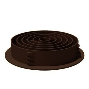 Image for Manthorpe Round / Circular Soffit Ventilator (Boxed in 50) Brown