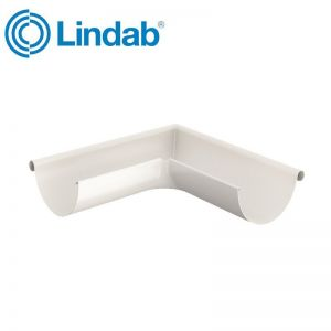 Image for Lindab Half Round 90dg Outer Gutter Angle 100mm Painted Antique White