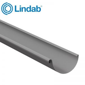 Image for Lindab Half Round Guttering 100mm x 3m Painted Anthracite Metallic