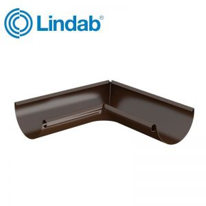 Image for Lindab Half Round 90dg Inner Gutter Angle 150mm Painted Brown