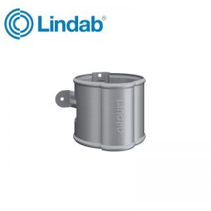 Image for Lindab Round Downpipe Bracket 75mm Painted Silver Metallic