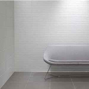 Image for Studio Conran Trace Wall Tile Linea Flow Black Satin 248mm x 498mm 8 Per Pack - RAN00675