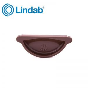Image for Lindab Half Round Self Sealing Stop End 100mm Painted Brown