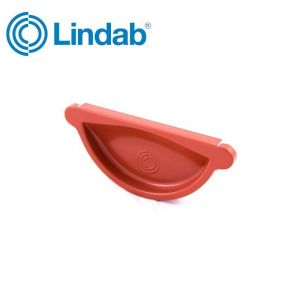 Image for Lindab Half Round Self Sealing Stop End 100mm Painted Tile Red