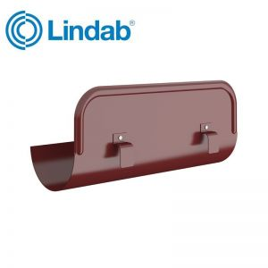 Image for Lindab Half Round Straight Overflow Protector 150mm Painted Dark Red