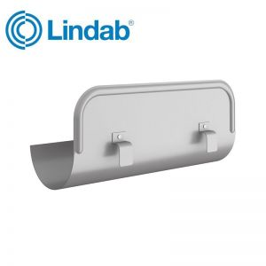 Image for Lindab Half Round Straight Overflow Protector 150mm Painted Anthracite