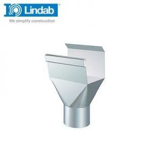 Image for Lindab Rectangular Gutter Outlet 136mm Painted Silver Metallic