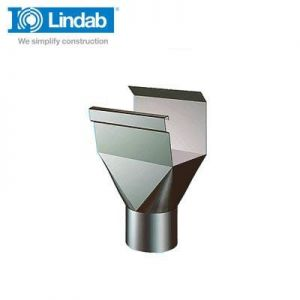 Image for Lindab Rectangular Gutter Outlet 136mm Painted Brown