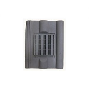 Image for Harcon In-line Redland Double Roman Roof Tile Vent - Grey