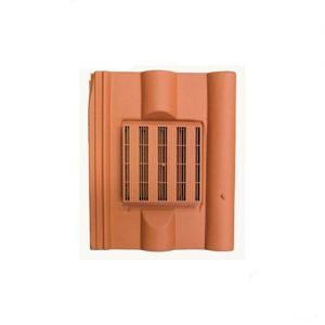 Image for Harcon In-line Redland Double Roman Roof Tile Vent - Terracotta