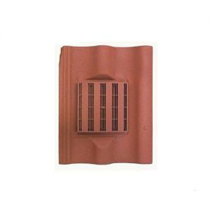Image for Harcon In-line Double Pantile Roof Tile Vent - Red