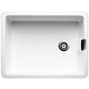 Image for Blanco BELFAST Ceramic Kitchen Sink Crystal White Glossy Reversible BL468008