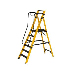Youngman 6 Tread Megastep Ladder with Handrails - EN 131