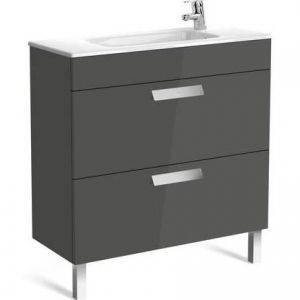 Image for Roca Debba Compact Unik 2 Drawer 800Mm Vanity Unit Anthracite