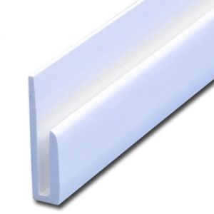 Image for J Section White Capping Strip - 2440mm