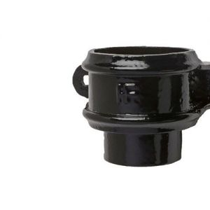 Image for Cast Iron Round Downpipe Loose Socket Eared 65mm - Black Finish