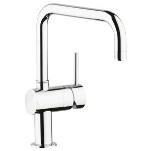 Image for GROHE Minta Kitchen Tap, 0°/150°/360° Swivel Range, GROHE Starlight®, U-Spout