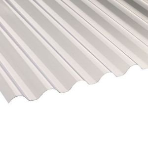 Image for PVC Corrugated Roofing Sheets (Clear) - 1.83m x 762mm x 0.8mm