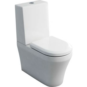 Britton Fine S40 Close Coupled Toilet Pan And Soft Close Seat - White