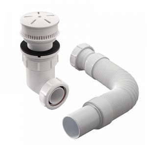 """Image for Twyford Odourwise Installation Pack,1.5"""" Bsp (62mm Flange) - White"""