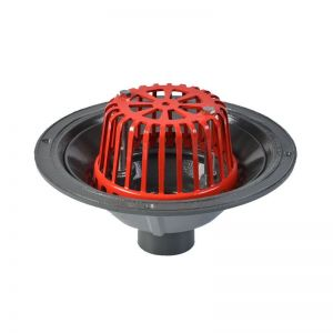 Image for ACO Rainwater Roof Outlet Vertical Scew with Dome Grate - 50mm