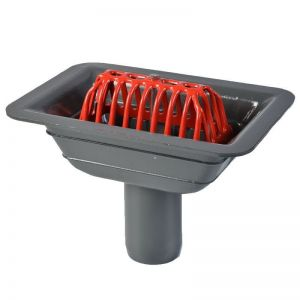 Image for ACO Rainwater Balcony Outlet Gully with Dome Grate - 75mm