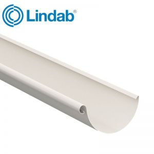 Image for Lindab Steel Half Round Guttering 125mm x 2m Painted Antique White