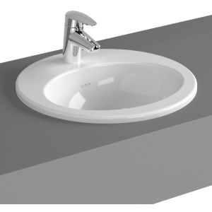 Image for Vitra S20 Compact Countertop Basin 48cm Oval 1 Taphole