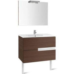 Image for Roca Victoria-N 1000 Pack (Base Unit, Basin, Mirror And Spotlight) Textured Wenge