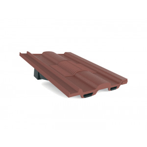 Manthorpe Castellated In-line Roof Tile Vent - Antique Red