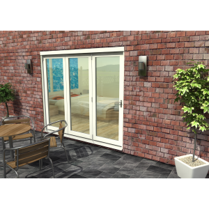 Image for Rohden White Fully Finished Bi-Fold External Doorset - 83in x 94in x 54mm (2100mm x 2400mm)