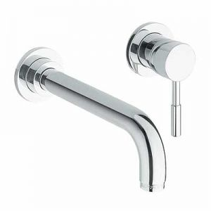 Image for Twyford Sola Wall Mounted Basin Mixer
