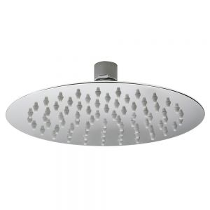 Image for Hudson Reed Round Fixed Shower Head, 200mm Diameter, Chrome