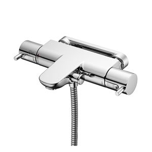 Image for Ideal Standard Alto Ecotherm Wall Mounted Thermostatic B.S.M With Pin Handles Chrome