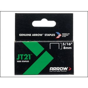 Image for JT21 T27 Staples 8mm ( 5/16in) Box 1000