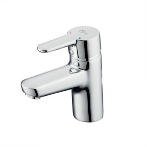 Image for Ideal Standard Concept Blue Small Basin Mixer Chrome Excluding Basin Pop Up Waste
