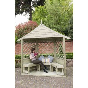 Image for Forest Burford Premium Tongue & Groove Half Arbour