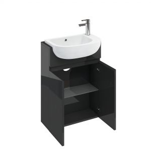 Image for Britton Cabinets 600mm Compact Vanity With Basin & Worktop Anthracite - CM5G.T35G.CM0008