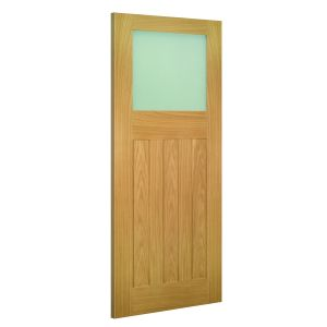 Image for Deanta Cambridge Glazed Interior Oak Door