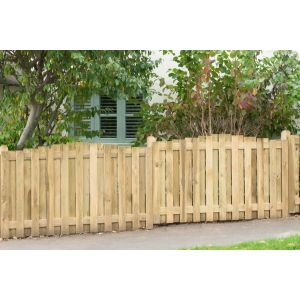 Image for Forest Decorative Hit & Miss Dome Top Fence Panel - 6ft x 3.5ft (1.83m x 1.1m)