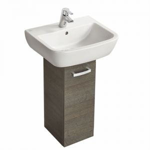 Image for Ideal Standard Tempo 265mm 1 Door Pedestal Unit Complete With Tempo 550mm 1 Tap Hole Basin Stone Grey - SG