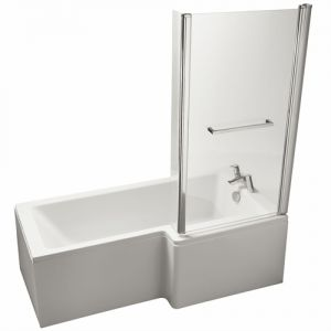 Image for Ideal Standard Tempo Cube 1700mm x 800mm Right Hand Shower Bath No Tap Hole, IdealForm Plus Bath